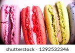 colorful french macarons or... | Shutterstock . vector #1292532346