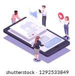 flat isometric vector concept... | Shutterstock .eps vector #1292533849