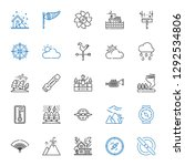 wind icons set. collection of... | Shutterstock .eps vector #1292534806
