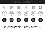 clear icons set. collection of... | Shutterstock .eps vector #1292539930