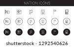 nation icons set. collection of ...