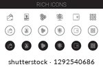 rich icons set. collection of... | Shutterstock .eps vector #1292540686