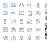 receive icons set. collection... | Shutterstock .eps vector #1292540740