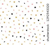 hand drawn cute pink hearts... | Shutterstock .eps vector #1292543320