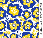spring floral seamless pattern. ... | Shutterstock .eps vector #1292544700
