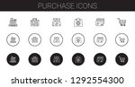 purchase icons set. collection... | Shutterstock .eps vector #1292554300