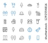 delicious icons set. collection ... | Shutterstock .eps vector #1292554816