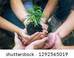 group of diverse people... | Shutterstock . vector #1292565019