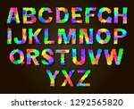 set of colorful letters. color... | Shutterstock .eps vector #1292565820