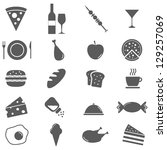 food icons set | Shutterstock .eps vector #129257069