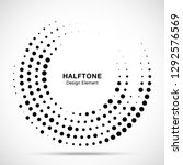 halftone circle dotted frame... | Shutterstock .eps vector #1292576569