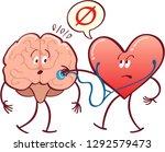 heart in arrogant mood checking ... | Shutterstock .eps vector #1292579473