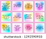 set of 12 vector quotes about...   Shutterstock .eps vector #1292590933