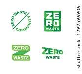 vector zero waste logo template ... | Shutterstock .eps vector #1292596906