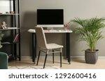 stylish workplace of designer... | Shutterstock . vector #1292600416