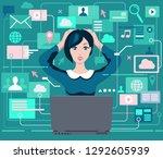 woman under pressure... | Shutterstock .eps vector #1292605939