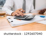partial view of businessman... | Shutterstock . vector #1292607040