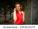 attractive redhaired woman in...   Shutterstock . vector #1292615173