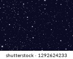 Space with stars universe space infinity and starlight background. Starry night sky galaxy and planets in cosmos pattern. Vector illustration
