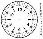clock face for house  alarm ... | Shutterstock .eps vector #1292626909
