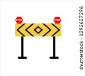construction barrier icon ... | Shutterstock .eps vector #1292627296