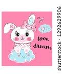 a little rabbit  | Shutterstock .eps vector #1292629906