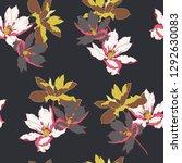 beautiful seamless floral... | Shutterstock .eps vector #1292630083