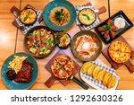 pizza menu in restaurant | Shutterstock . vector #1292630326