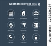 9 icons set such as calculator  ... | Shutterstock .eps vector #1292636299