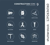 9 icons set such as cement... | Shutterstock .eps vector #1292636560