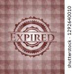 expired red seamless geometric... | Shutterstock .eps vector #1292640010