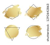 abstract geometric golden... | Shutterstock .eps vector #1292642863