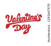 happy valentines day  beautiful ... | Shutterstock .eps vector #1292647570
