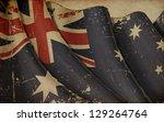 Australian Flag Old Paper