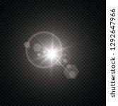 vector transparent sunlight... | Shutterstock .eps vector #1292647966