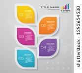 5 steps infographics chart... | Shutterstock .eps vector #1292654530