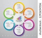6 steps infographics chart... | Shutterstock .eps vector #1292654536