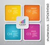 4 steps infographics chart... | Shutterstock .eps vector #1292654560