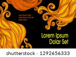 visit card or template flyer... | Shutterstock .eps vector #1292656333