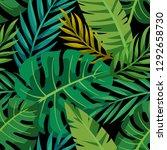 trendy summer tropical leaves...   Shutterstock .eps vector #1292658730
