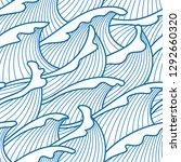 seamless abstract pattern.... | Shutterstock .eps vector #1292660320