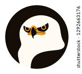 eagle head ,vector illustration ,flat style ,front side