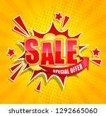 Comic Sale Boom Banner In Retro ...