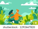 vector illustration in flat... | Shutterstock .eps vector #1292667820