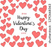 happy valentines day card... | Shutterstock .eps vector #1292668363