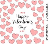 happy valentines day card... | Shutterstock .eps vector #1292668366