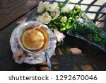Still Life Image Of Cup Of Rose ...