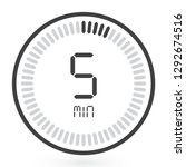 digital countdown timer vector...