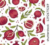 tropical seamless pattern with... | Shutterstock .eps vector #1292675269