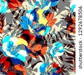 beautiful seamless floral... | Shutterstock . vector #1292678506